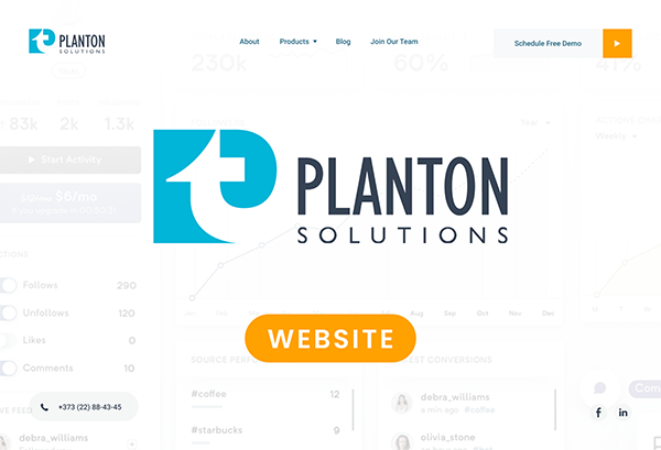 Planton Solutions Website