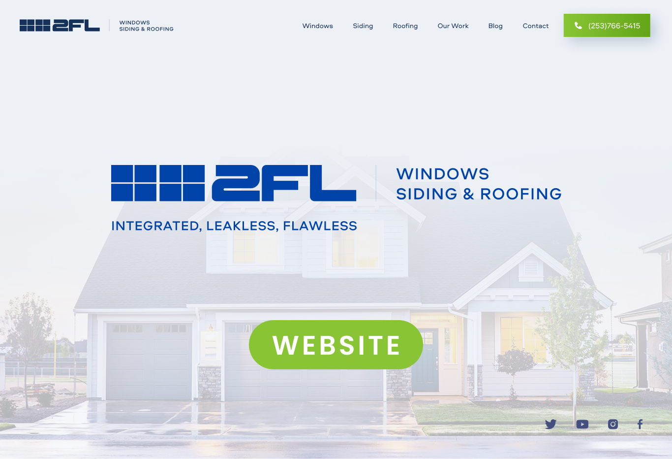 2FL Windows, Siding & Roofing Website